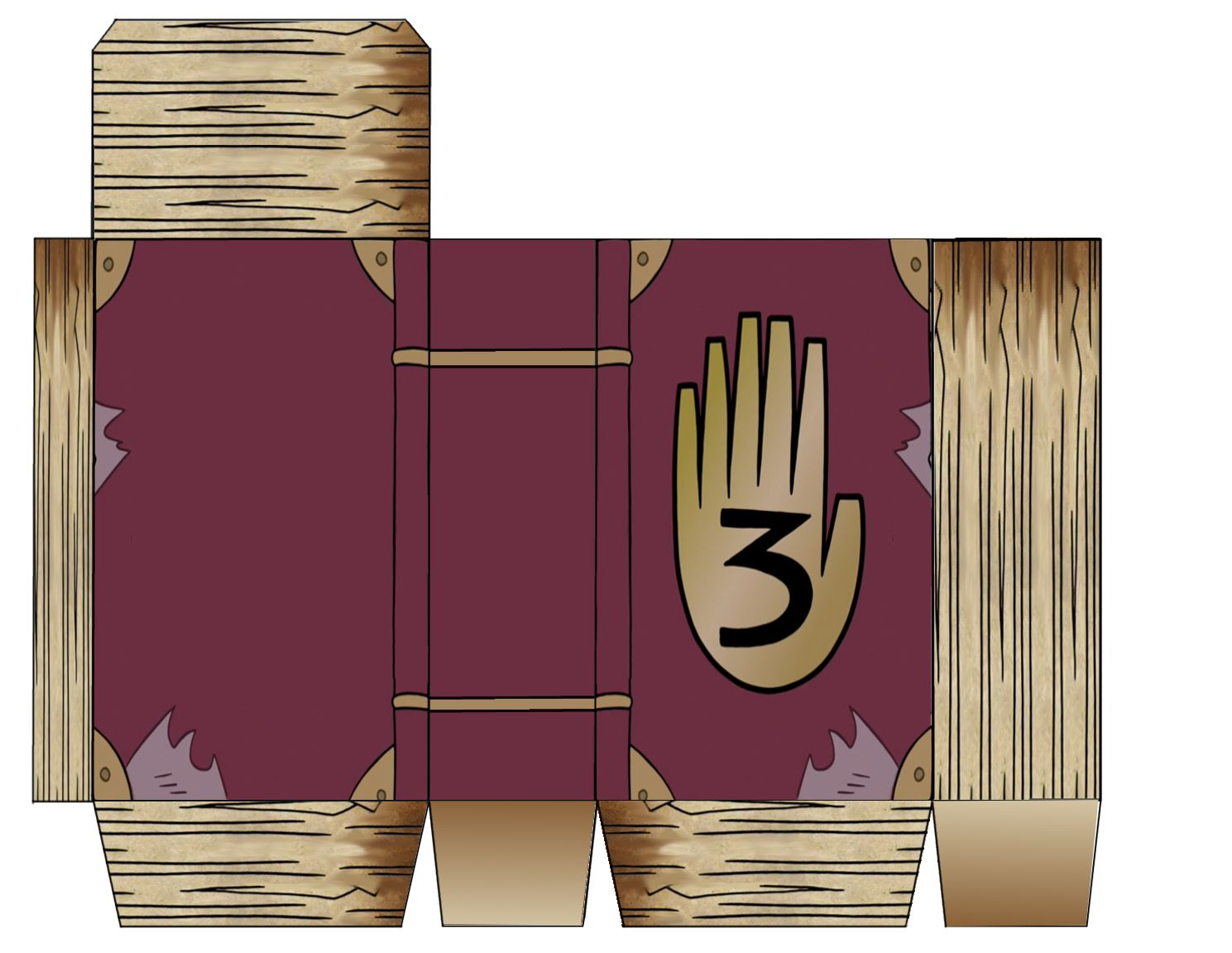 Dippers Book I Made Treat Boxes Template For Gravity Falls