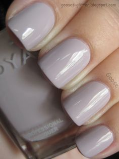 Light Gray Bridesmaid Nails Nice And Clean
