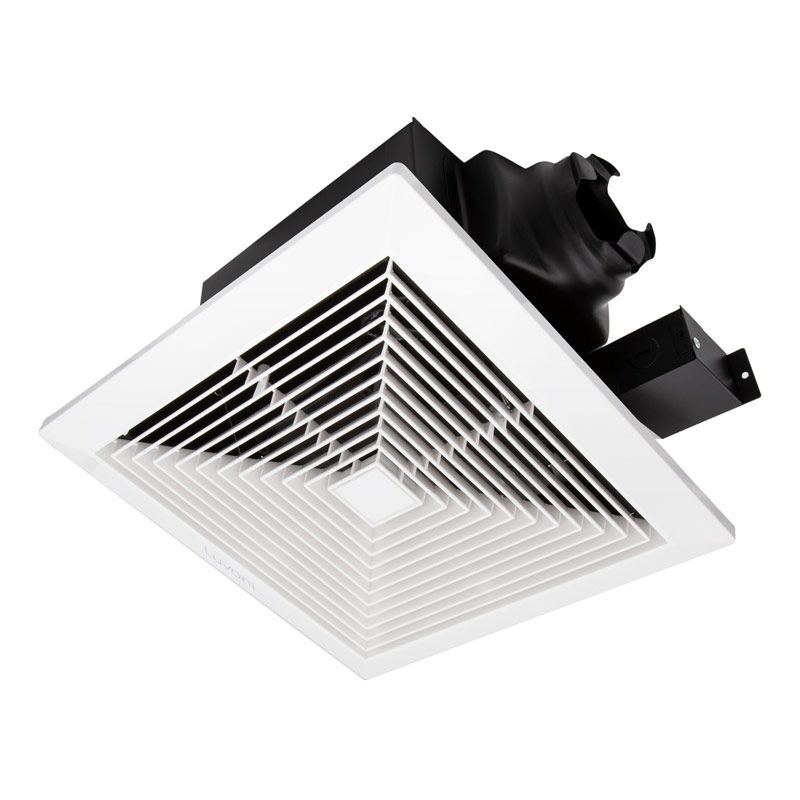 90 Cfm Bathroom Exhaust And Ventilation Fan 0 8 Sones Quiet Operation Ceiling Mounted In 2020 Bathroom Exhaust Fan Exhausted Ceiling
