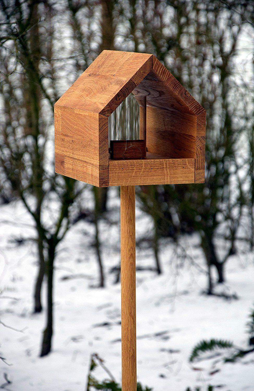 Luxus Vogelhaus 46601e Eiche Vogelfutterhaus Mit Stander