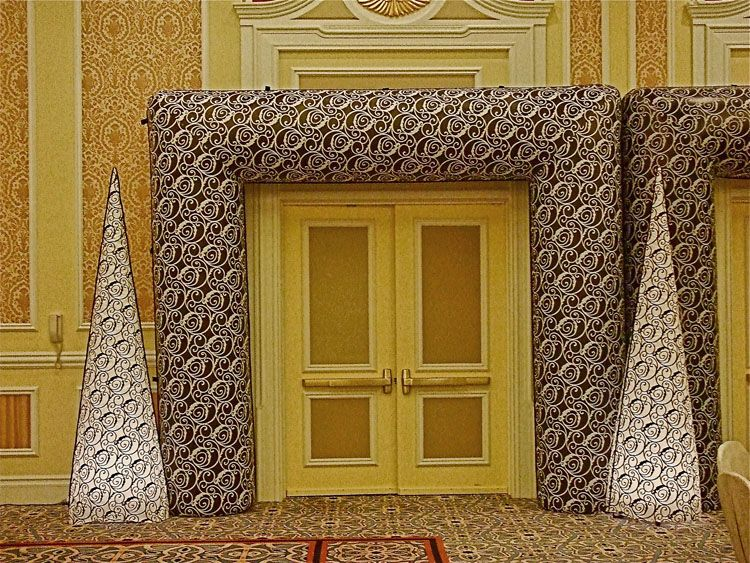 Venetian themed entrance way.  See more: www.TheIG.com