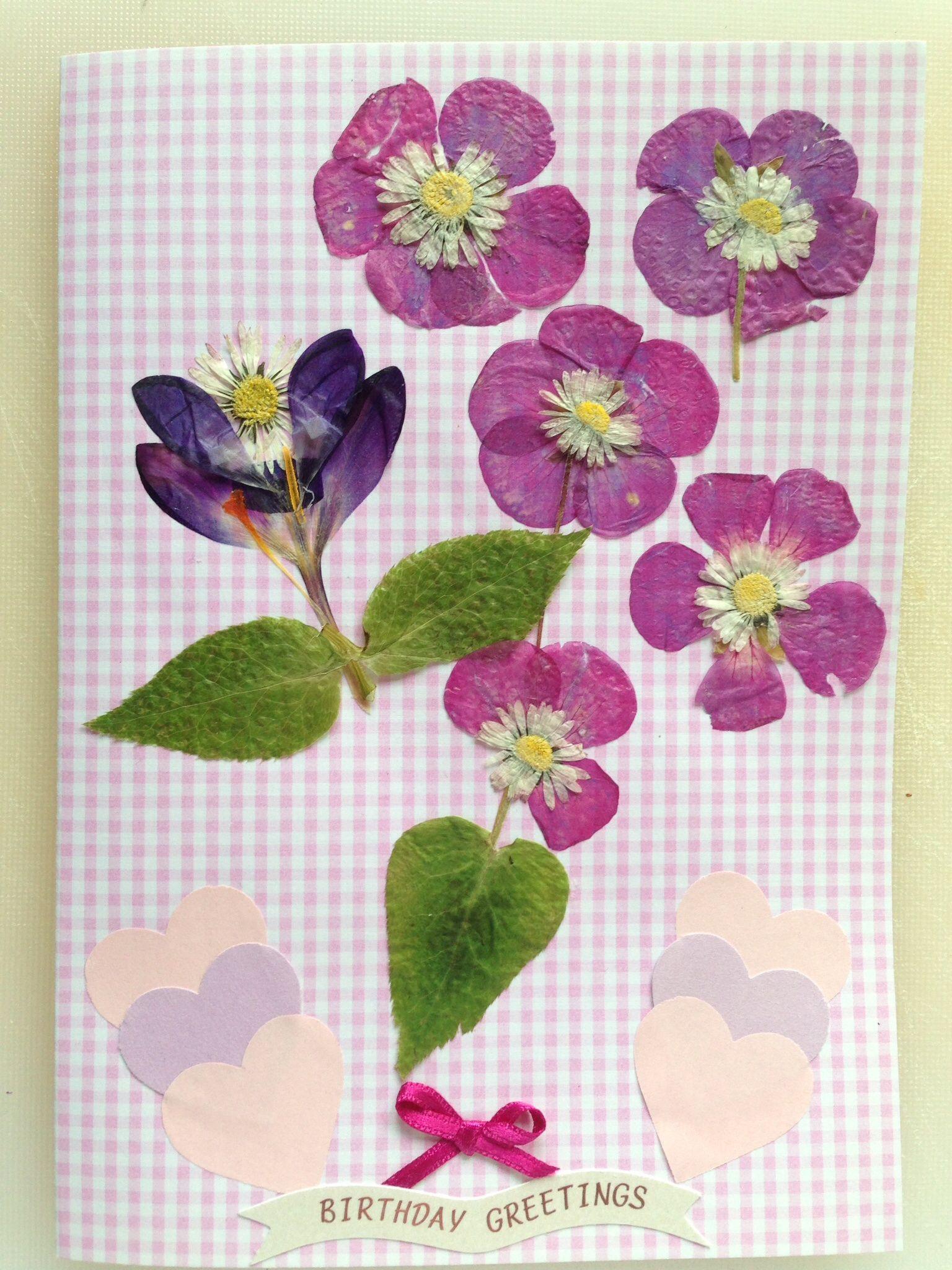 Fresh pressed flowers for a birthday card cards i have made fresh pressed flowers for a birthday card izmirmasajfo