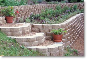 A doityourself retaining wall tradition Keystone Garden Wall is
