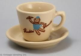 Retro Dd Mug With 1950s Logo And Dunkie Dunkin Donuts Vintage Coffee Cups Donut Cup