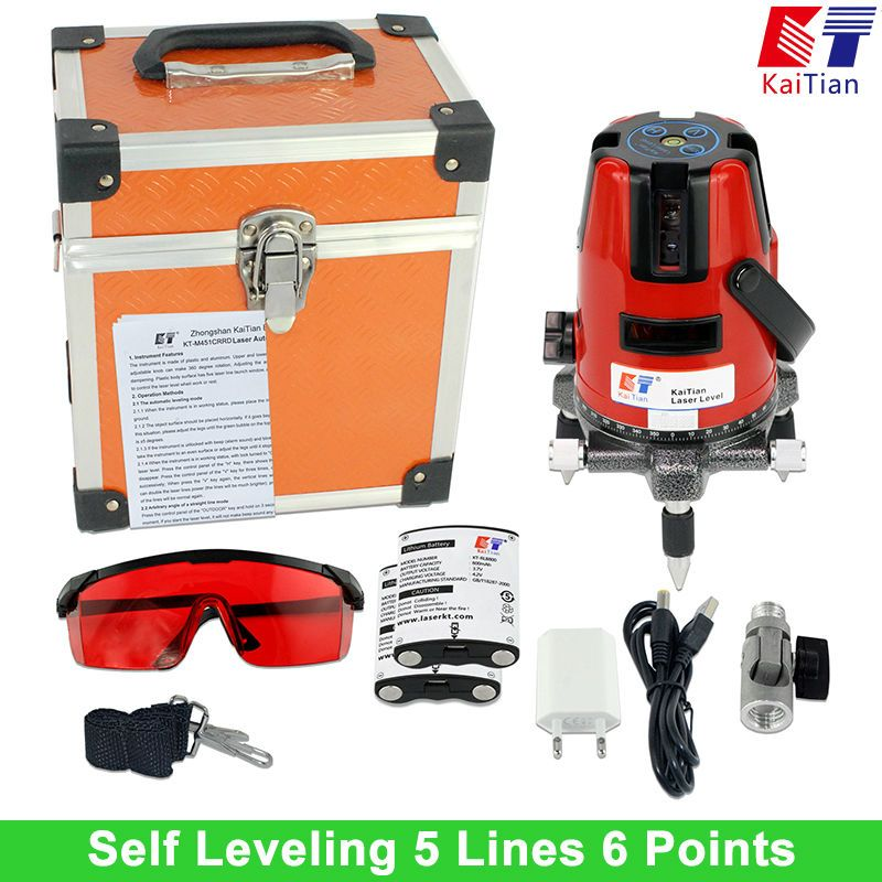 Us 73 98 Kaitian Laser Level Self Leveling With Battery Tilt Function Outdoor Rotary 5 Lines Battery Function Kaitian Laser Level Leveling Lines Out Dengan Gambar