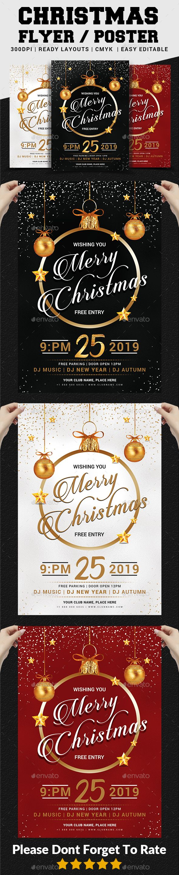 Christmas Flyer. Event flyer template. #flyer #design #printDesign #BlackParty #christmas #ChristmasBall #ChristmasEve #ChristmasEvent #ChristmasFlyer #ChristmasNight #ChristmasParty #ChristmasTemplate #concert #editable #elegant #gift #MerryChristmas #NewYearFlyer #NewYearParty #nightclub #poster #print #psd #red #xmas #XmasFlyer #XmasParty