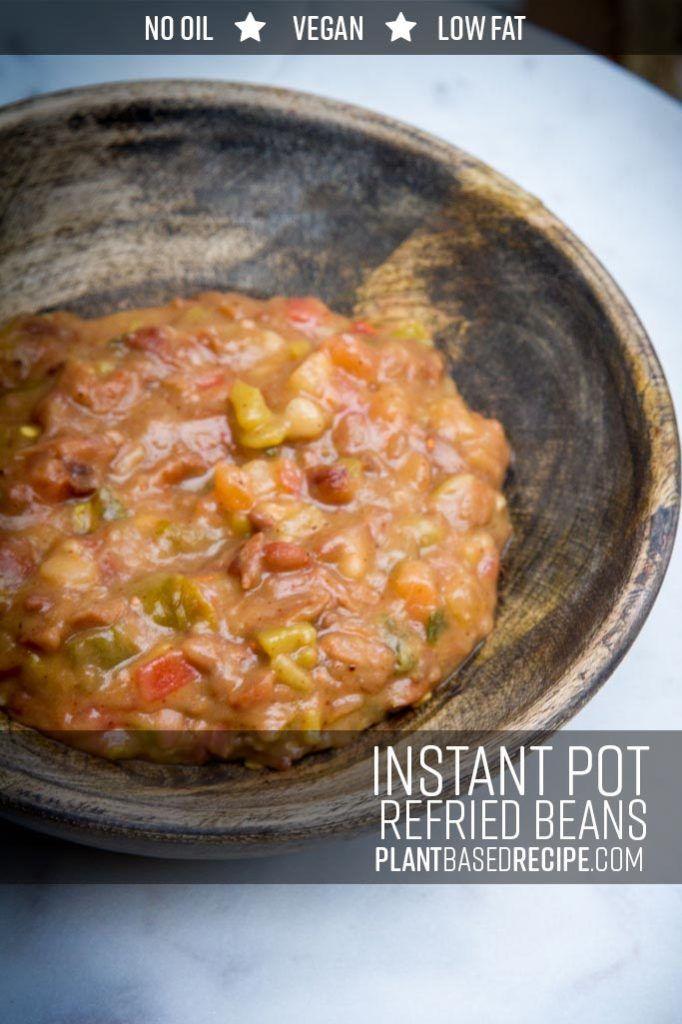 Instant Pot Low Fat Refried Beans
