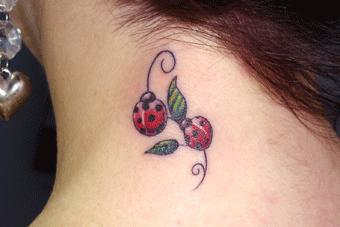 Local da tattoo cereja!