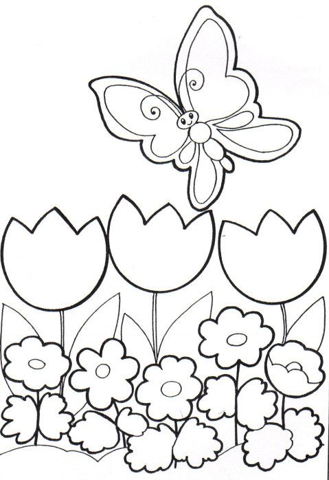 PRIMAVERA | fotocopias | Pinterest | Colouring pages, Flower ...