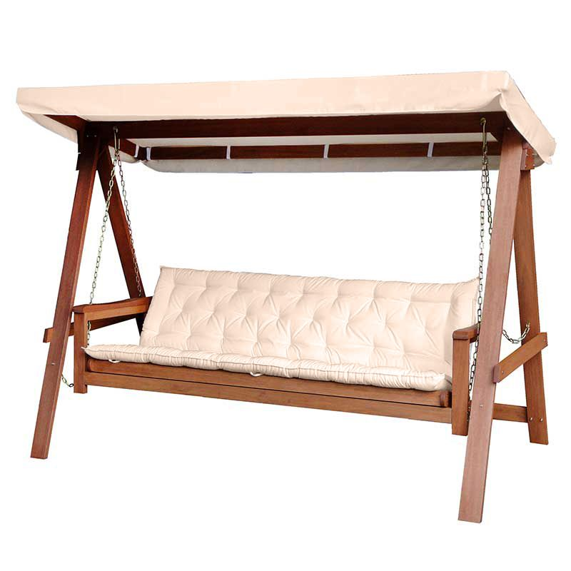 Greenfingers Loreto 3 Seater Swing Seat Champagne On 400 x 300