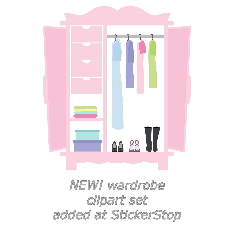 Closet Wardrobe Digital Clipart Instant Download Png Files