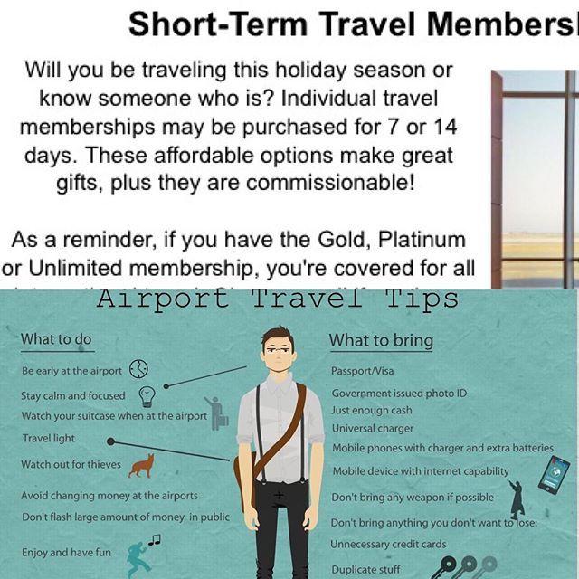 Short term travel insurance available. Travel smarter 🌎# ...