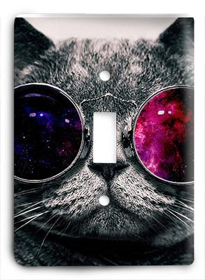 Cat In Glasses V6 Light Switch Drawing Iphone Wallpaper
