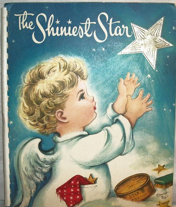 The Shiniest Star Childrens Christmas Book by Beth Vardon, Illustrated by Charlot Byi from TKSPRINGTHINGS Christmas Home Decor Collection. $89.95, via Etsy.