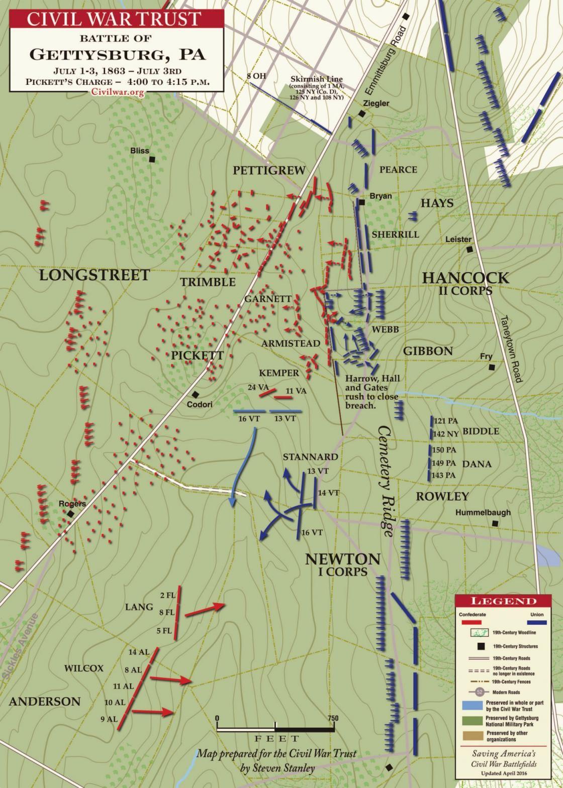 gettysburg - pickett u2019s charge  4 00