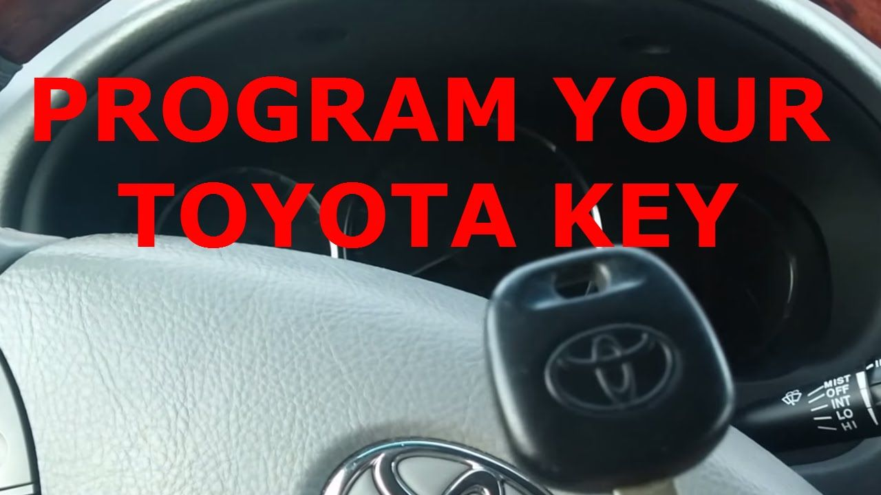 How To Program a Toyota Scion 4D Dot Transponder Chip Key
