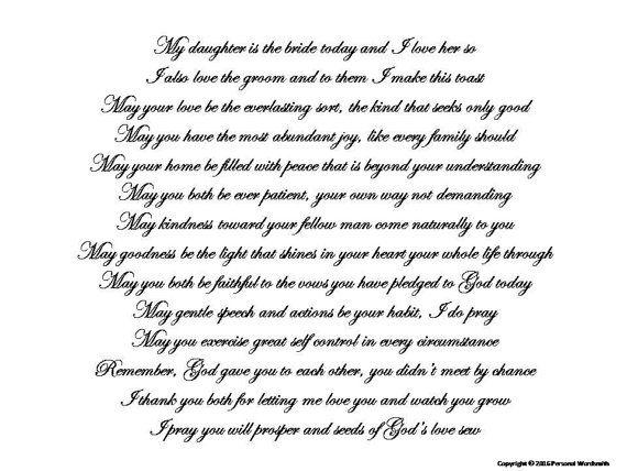 Mother Of Bride Toast Speech Download Printable