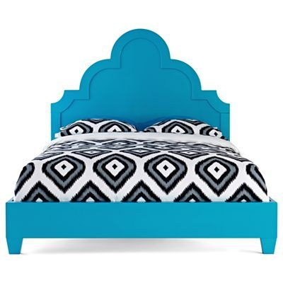 Happy Chic By Jonathan Adler Crescent Heights Lacquer Queen Bed Turquoise Bedding Queen Beds Bohemian Headboard