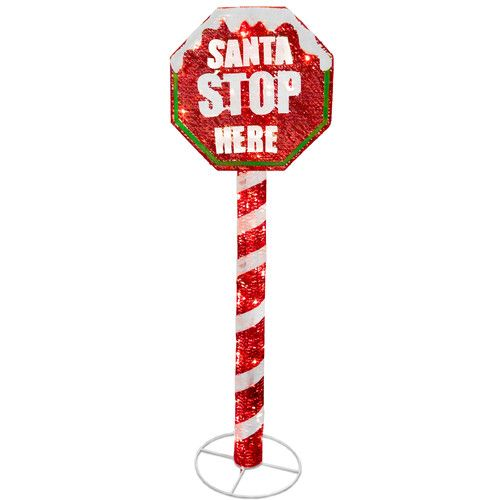 Shop Signtemplate: National Tree Co. Stop Sign With LED Lights Christmas