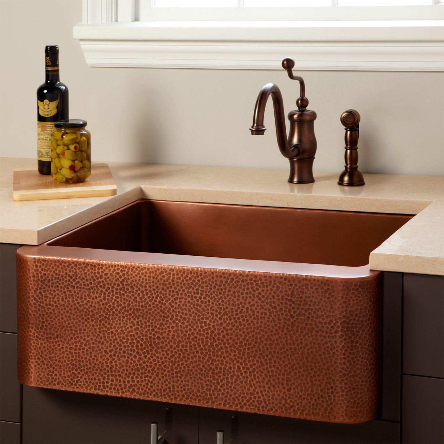 Hammered Copper Farmhouse Sink.30 Fiona Hammered Copper Farmhouse Sink Kitchen Remodel