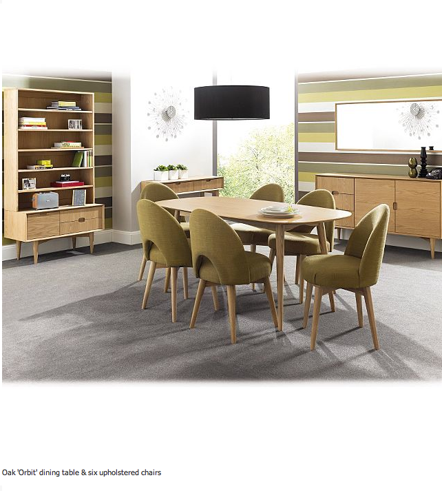 debenhams oak orbit table with upholstered chairs http www