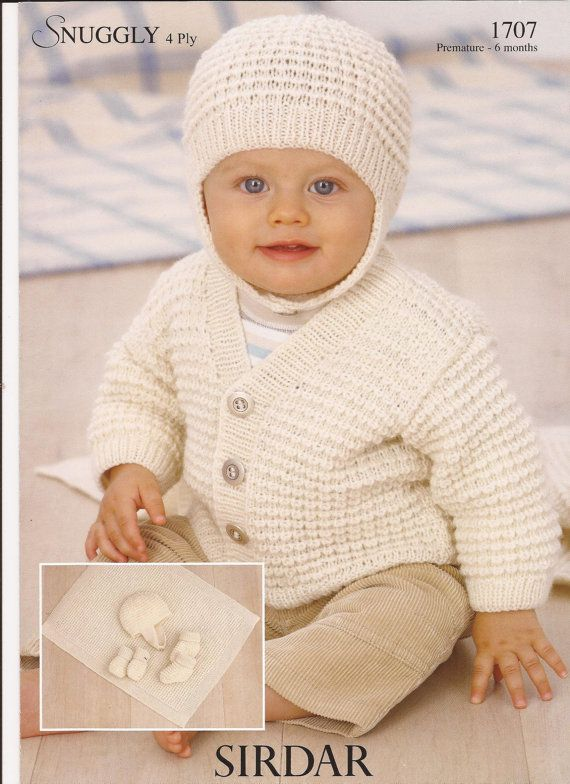 Sirdar Snuggly 4ply Knitting Pattern 1707 Cardigan By Brokemarys