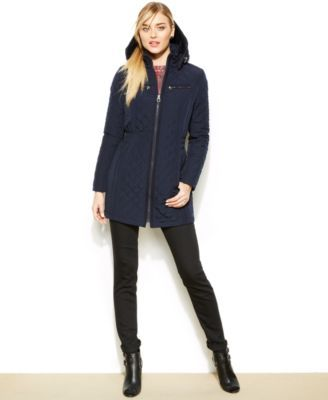 Laundry By Design Hooded Quilted Puffer Coat Macys Winter