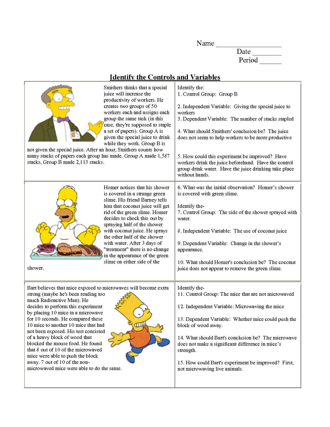 Inspirational Scientific Method Worksheet Answers Scientificmethod