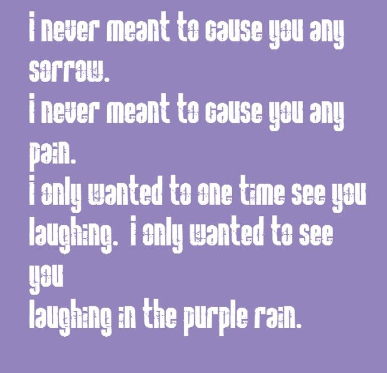 Lyric color purple lyrics : Prince - Purple Rain - song lyrics, song quotes, songs, music ...