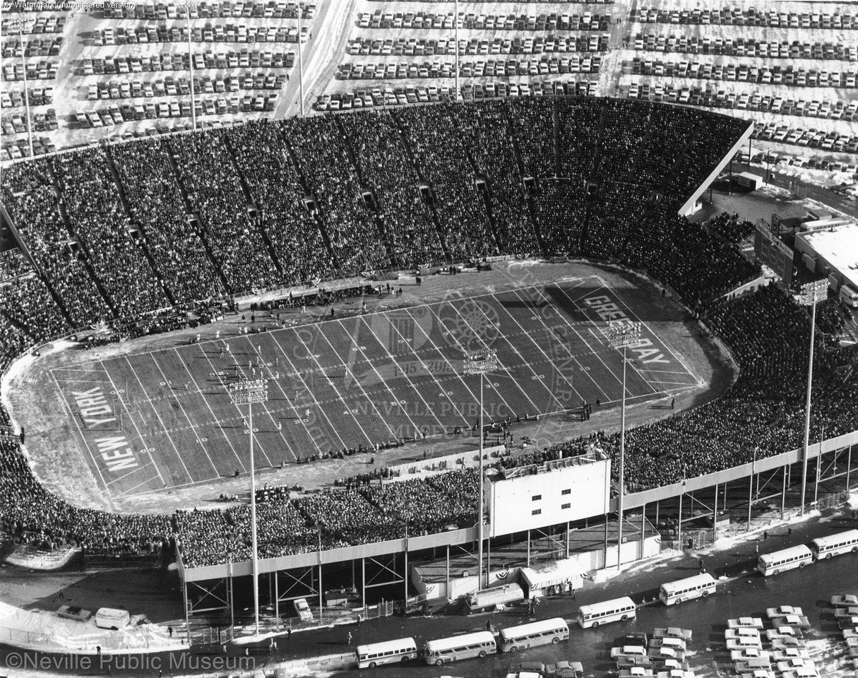 Packers 1961 Nfl Championship Game Aerial Nfl Championships Green Bay Packers History Green Bay Packers Football