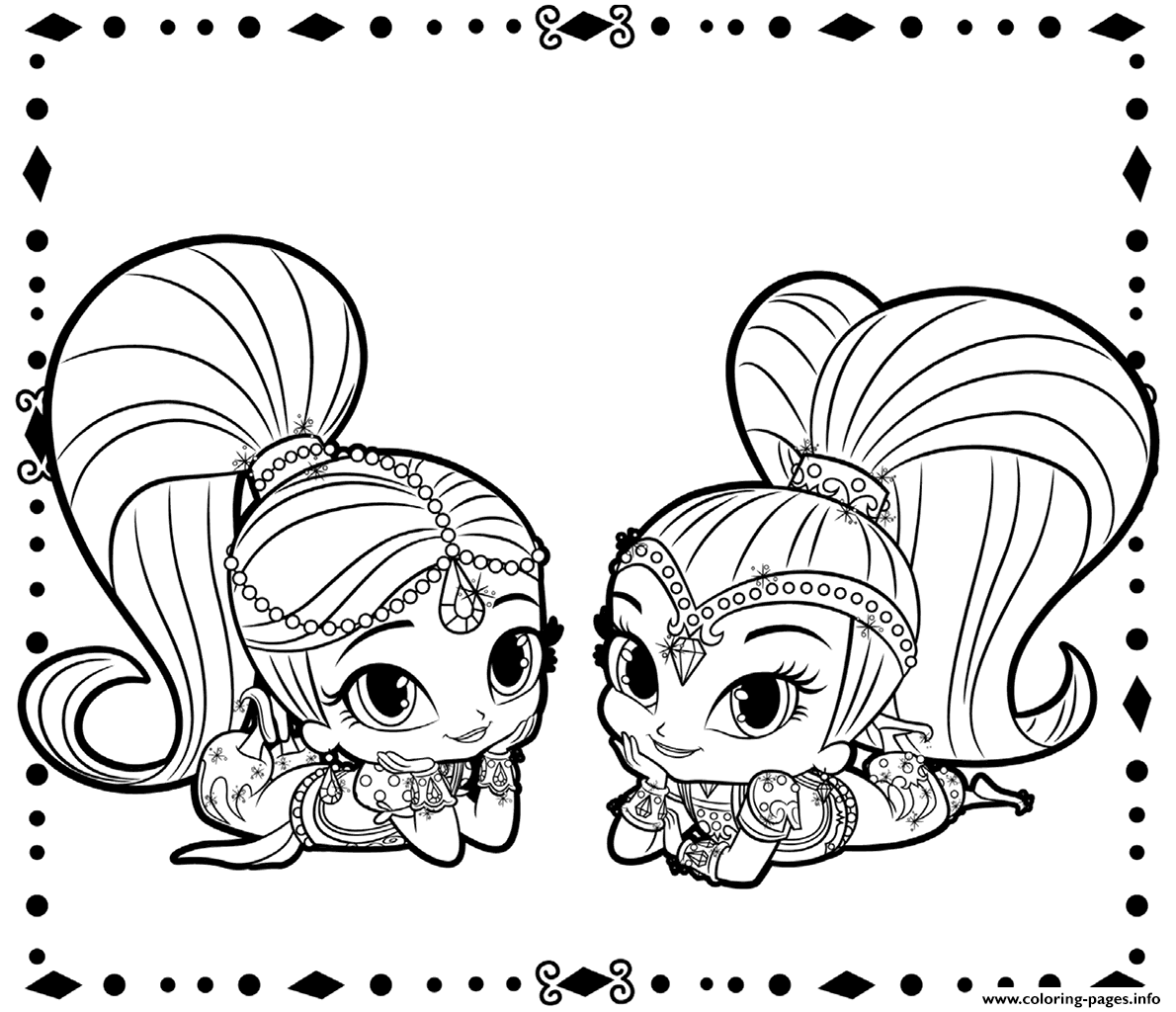 Print Shimmer and Shine coloring pages | Shimmer and Shine ...