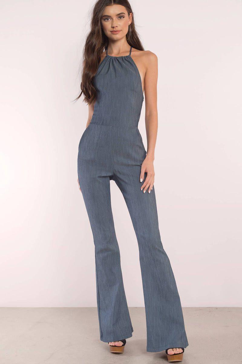 a4c2c1b3b38 Walk This Way Blue Denim Jumpsuit