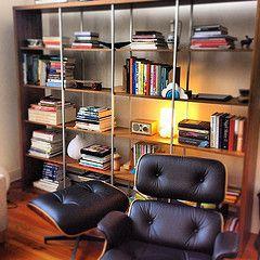 Bookshelf Lounge Chair Ottoman Charles Ray Eames Of Herman Miller