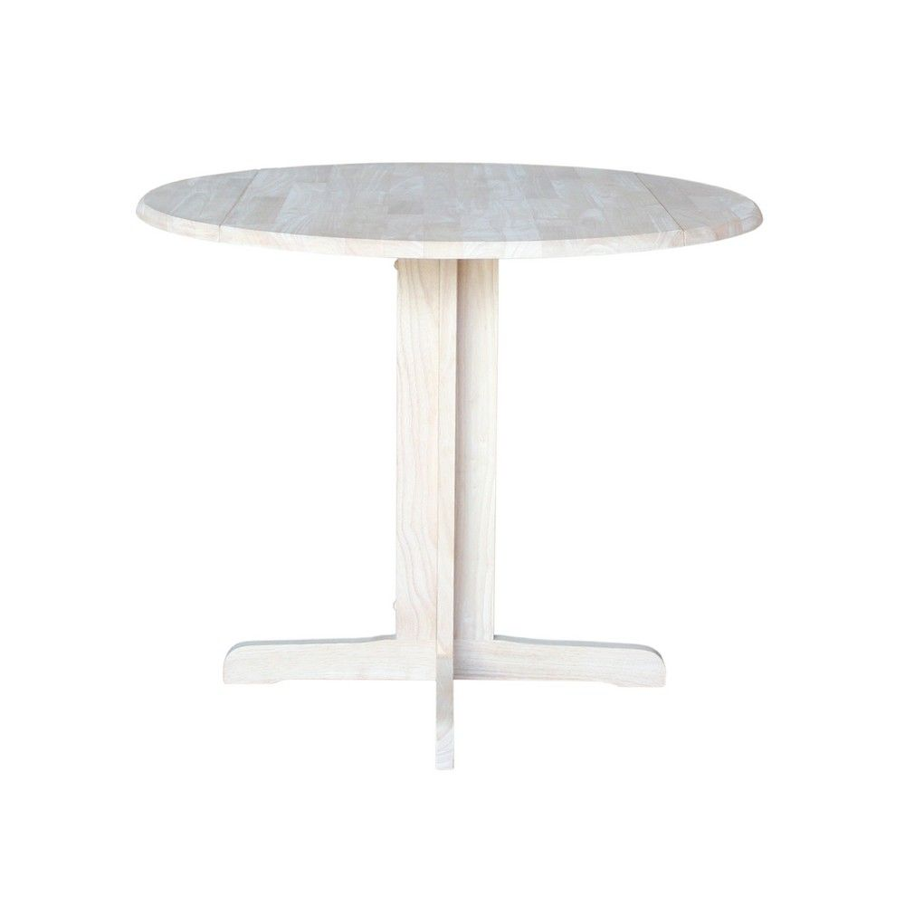 36 Dual Drop Leaf Table Unfinished International Concepts