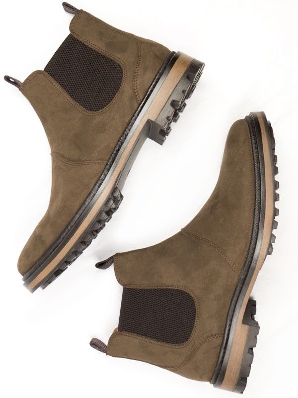 94ced987b259 Vegan men s Continental Chelsea boots in dark brown faux suede by Will s  Vegan Shoes