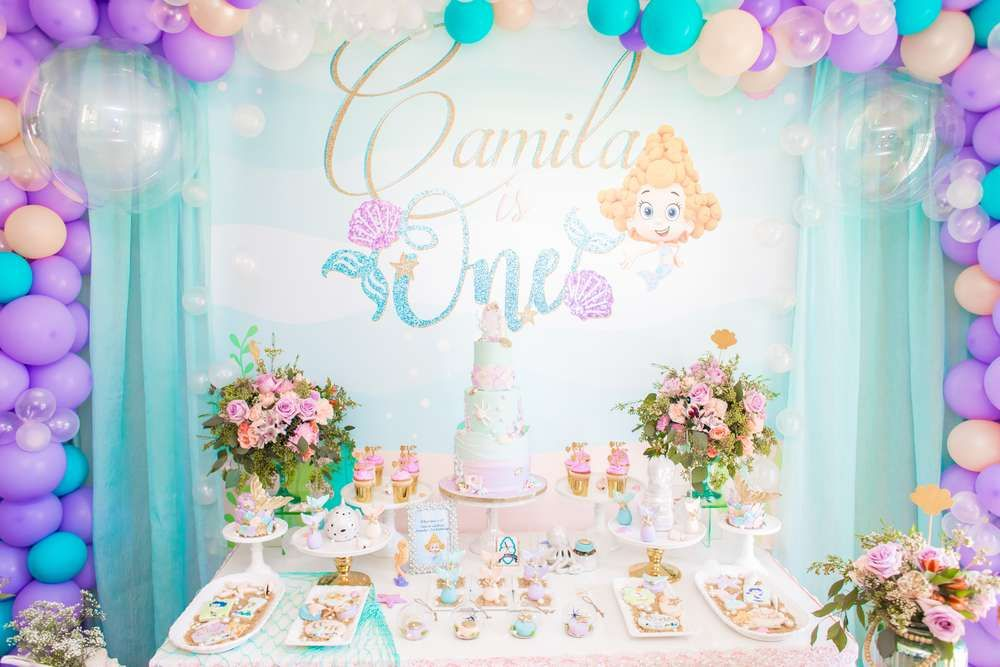 Sensational Under The Sea Birthday Party Ideas With Images Girls First Funny Birthday Cards Online Hetedamsfinfo