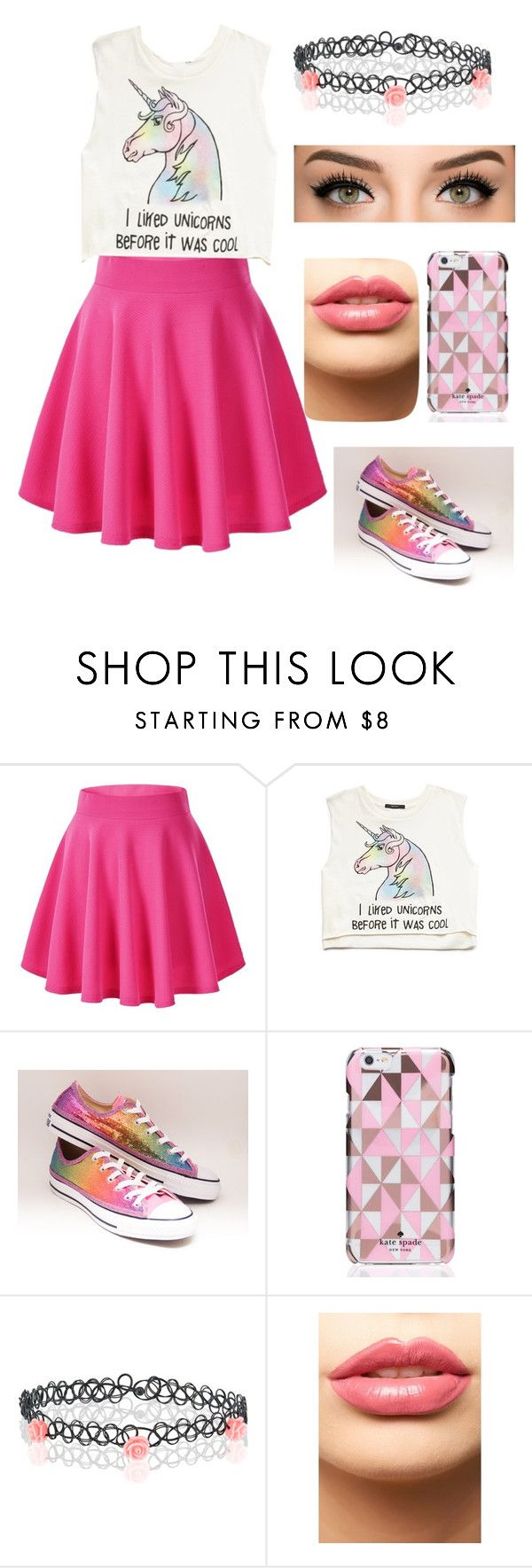 """Untitled #175"" by anastasija-818 ❤ liked on Polyvore featuring Forever 21, Converse, Kate Spade, Monsoon and LASplash"