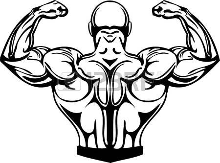 Peachy Muscle Cartoon Bodybuilding And Powerlifting Vector Gmtry Best Dining Table And Chair Ideas Images Gmtryco