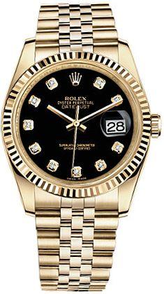 Rolex Datejust 36 Gold Watch 116238