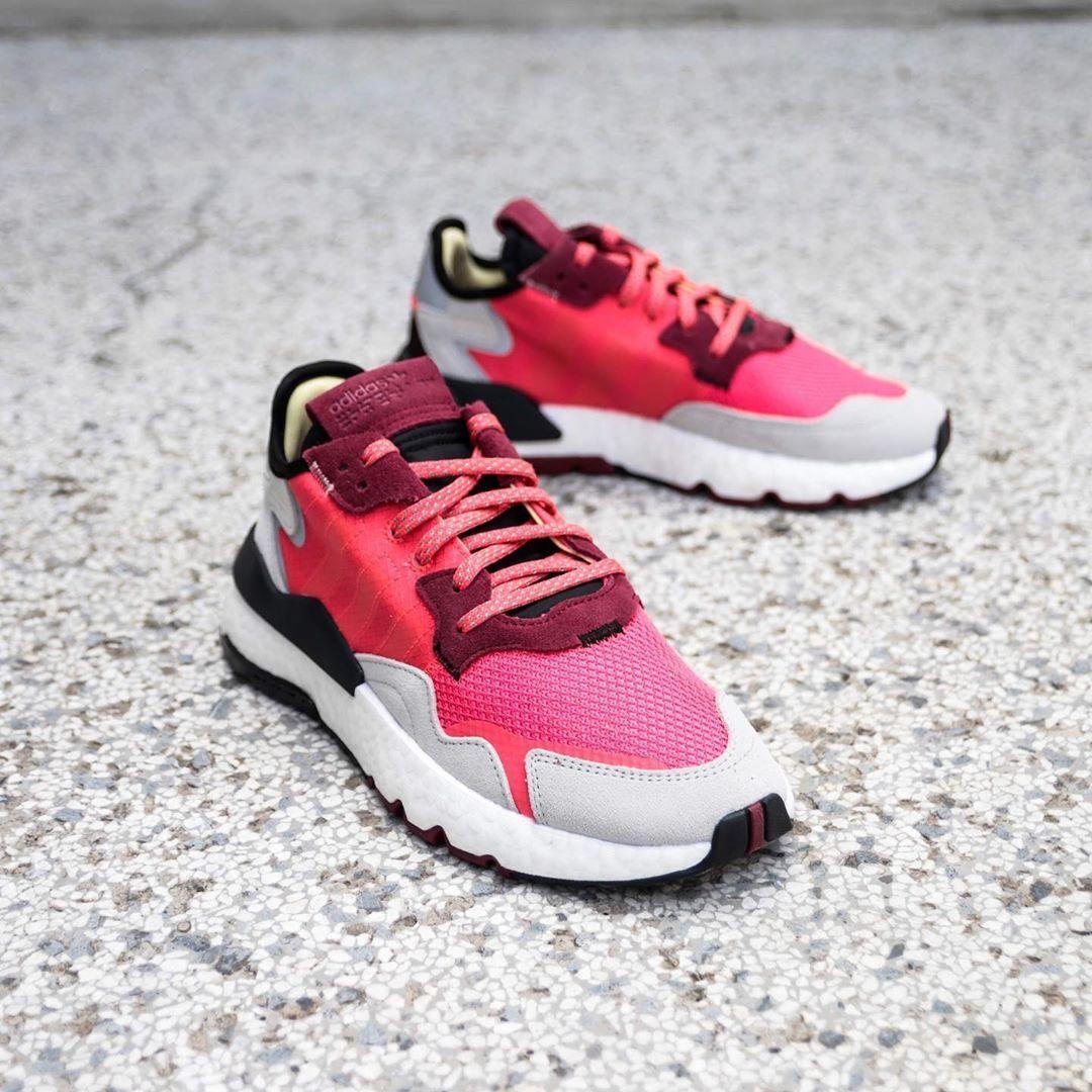 adidas nite jogger weiss rosa