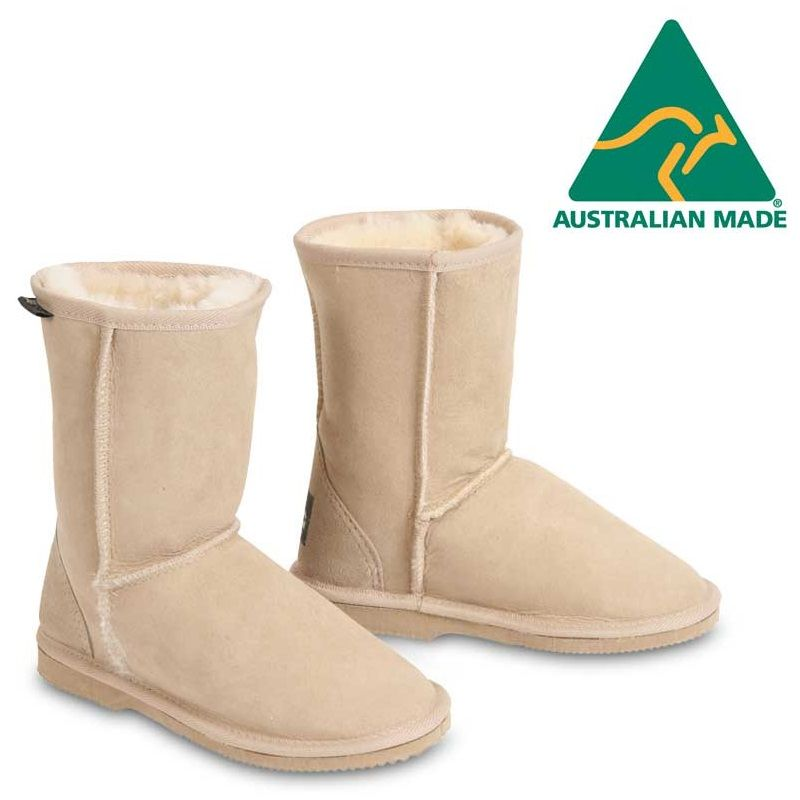 4df9ddd7d639 Kids Classic Australian Sheepskin Boots in Sand