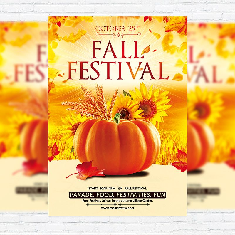 Fall Festival Flyer Template Free Pinephandshakeapp