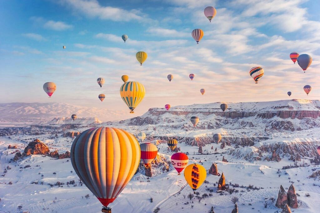 Hot air balloon rides are a major tourist attraction in