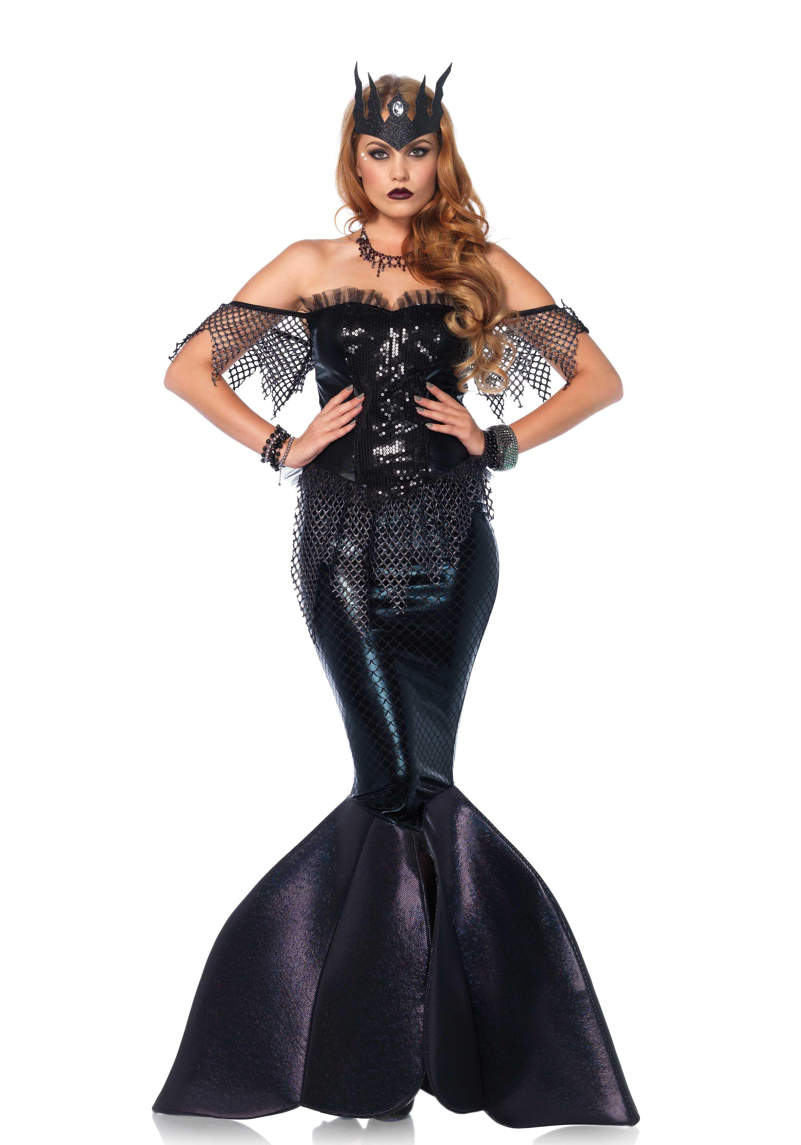 68094d78f Leg Avenue Dark Water Siren Costume  Halloween  Sinister  Black  Fantasy   Mermaid  Dress  Outfit  DressUp