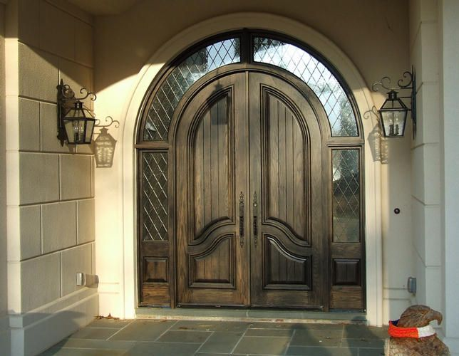 Country French Exterior Wood Entry Door Style Dbyd 2051 French