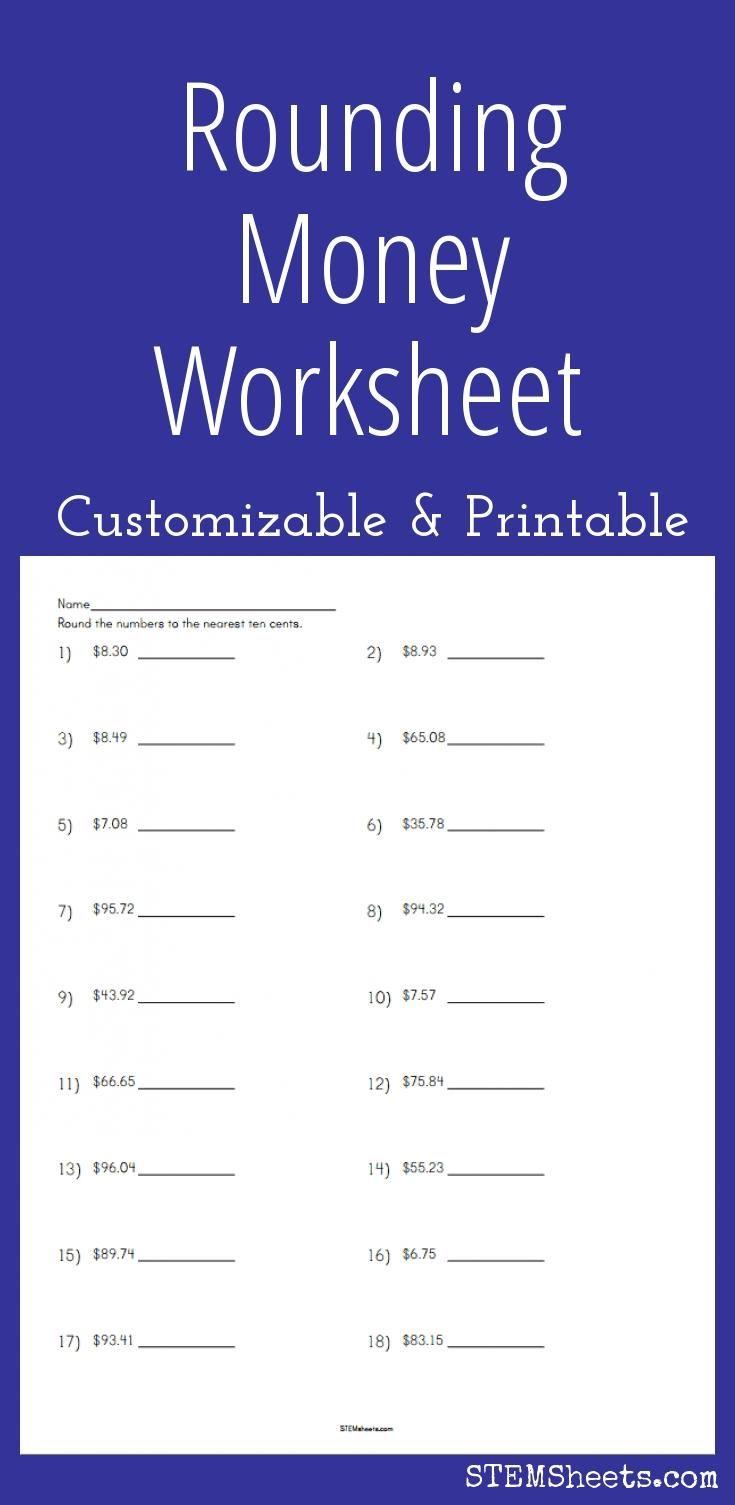 Rounding Money adding math worksheets – Rounding Money Worksheets
