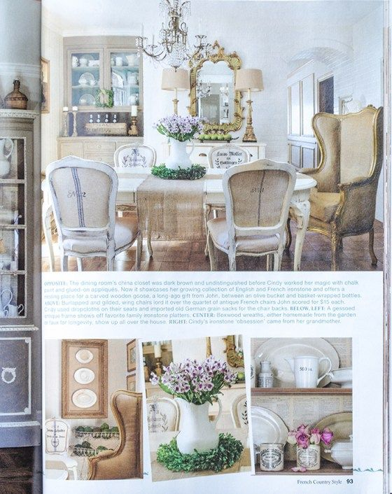 French Country Style Magazine Part - 44: Feature In French Country Style Magazine   Edith U0026 Evelyn    Www.edithandevelynvintage.com