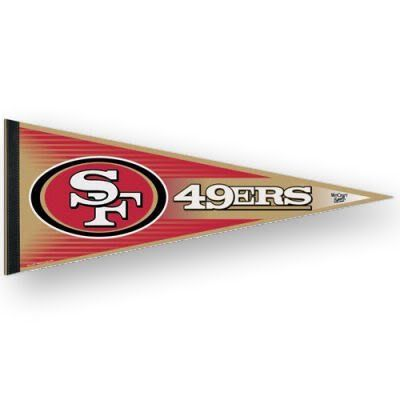 SAN FRANCISCO 49ERS FULL SIZE FELT PENNANT by WinCraft. $6.95