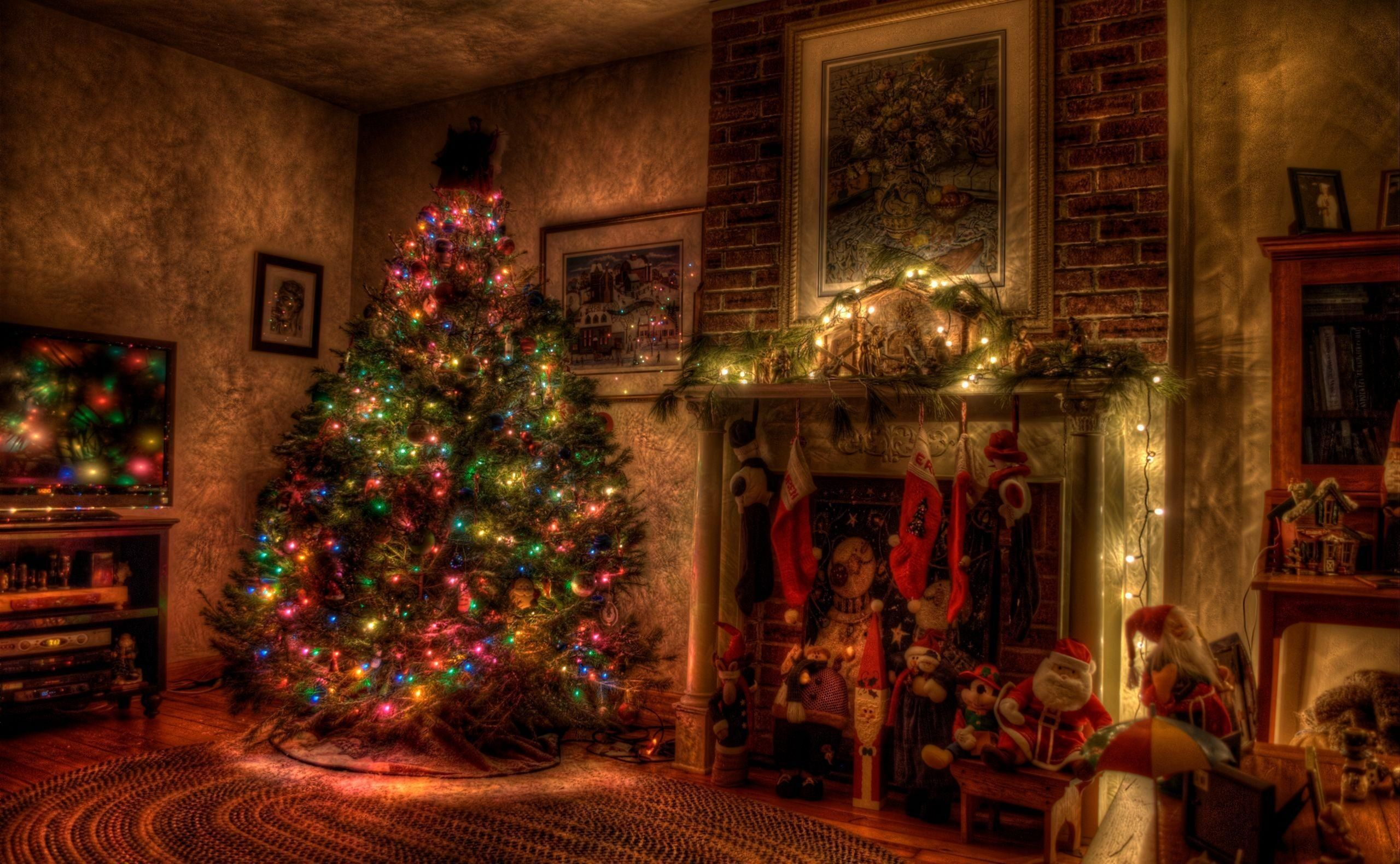 Holiday living room background