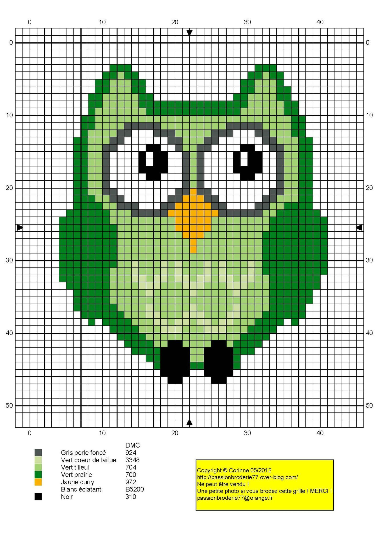 Green owl pattern by passionbrode77. | Crafts | Pinterest ...